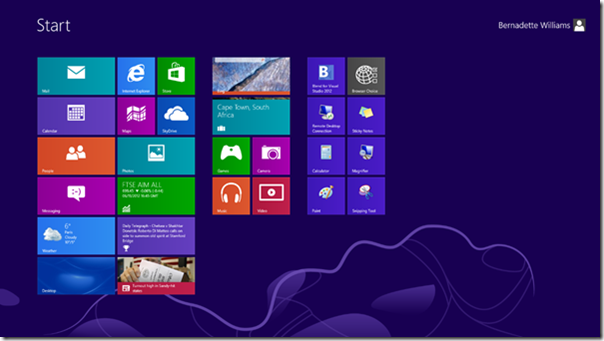 Windows 8 Metro Style Start Screen